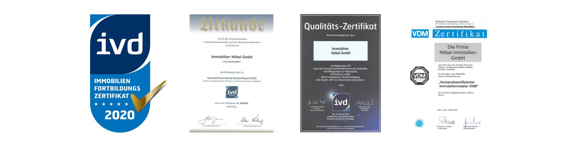 Immobilien Nöbel GmbH - Wir sind Zertifiziert